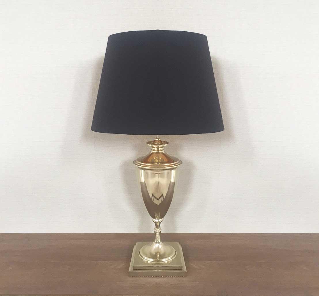 LAMPARA DE MESA EN NIQUEL